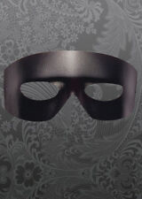 Mens Black Leather Look Masked Ball Eyemask