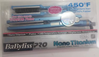 BaByliss PRO Nano Titanium 1 3/4 Flat Iron Hair Straightener 450° Free Shipping