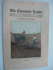 The Chemistry Leaflet - Vintage Oct 1930 Booklet
