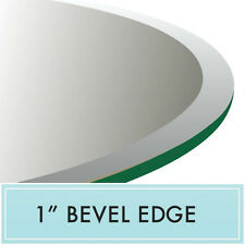 """42"""" x 72"""" Inch Clear E-Oval Tempered Glass Table Top  1/2"""" thick - Bevel Edge"""