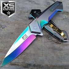 "8"" MTECH XTREME RAINBOW BALLISTIC Straight Assisted Folding Pocket Knife"