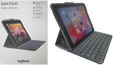 "Logitech Ipad Capa Folio Slim Teclado Sem Fio Bluetooth Ipad 9.7"" 5 E 6 Preto"