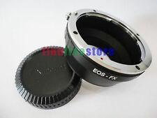 Adapter for Canon EOS EF EF-S Lens to Fujifilm Fuji FX X mount X-Pro1 X-E1 + CAP