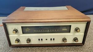 The Fisher 400 Wide-Band Multiplex Tube Receiver Fm Tuner Wooden Cabinet READ