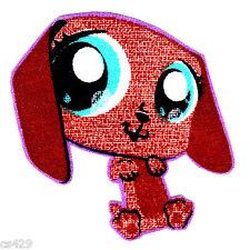 "2.5"" Littlest pet shop dashund dog fabric applique iron on character"