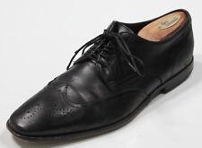 * HUGO BOSS * Black Lace up Wingtip Leather Oxford Dress Shoes US 9 D