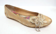 BORN Size 8 / 39 Gold Ballet Leather Flats Shoes