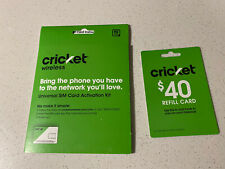 cricket sim and Refill Card