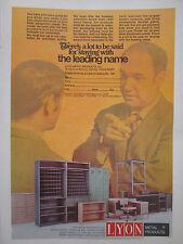 1/1972 PUB LYON METAL PRODUCTS AURORA MOBILIER STEEL EQUIPMENT ORIGINAL AD