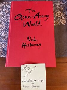 The Gone-Away World by Nick Harkaway Signed. uncorrected proof copy
