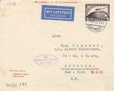 LZ 127 Graf Zeppelin Amerikafahrt 1928@Lupo-Brief mit 4 RM Zeppelin@AKS New York