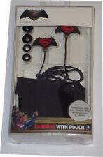 DC Comics - Batman v Superman Mold Earbud Headphones With Pouch - Black