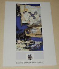 Carton Vernissage : Marie Madeleine NOISEUX Peinture 2000 Galerie CAPAZZA NANCAY