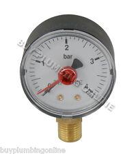"""Altecnic Pressure Gauge 1/4"""" Bottom Connection 0-4 Bar 557304"""