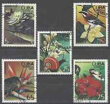Timbres Animaux Flore 4085/9 o lot 19922