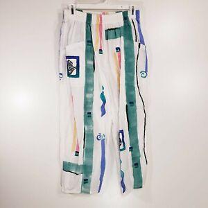 Vintage PLAY ALEGRE Hand Painted Wearable Art Pants Medium Large M L Womens PT20