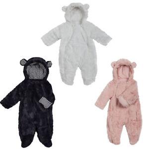 Overall Baby Anzug Schneeanzug Plüschoverall Wagenanzug Strampler 50-86 NEU