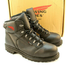 "RED WING 971 Size 11.5 D 6"" Black Waterproof Motorcycle Mens Work Boot MSRP $195"
