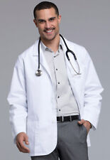 """White Cherokee Mens Consultation 31"""" Lab Coat 1389 WHT 