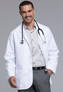 """White Cherokee Mens Consultation 31"""" Lab Coat 1389 WHT   1389A Antimicrobial"""