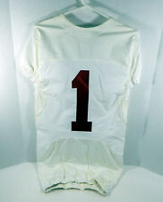 2009-15 Alabama Crimson Tide #1 Game Used White Jersey BAMA00145