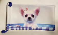 Chihuahua Glass Sleeve Case Storage Bag with drawstrings Brand NEW