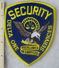 DELTA ONE SECURITY SERVICES PATCH OLDER Vintage ORIGINAL