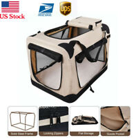 Dog Carrier EliteField 3-Door Folding Soft Dog Crate, Indoor & Outdoor Pet Home,