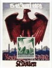 1936 3rd Third Reich Post Nazi Germany Swastika Salute postage stamp MNH **