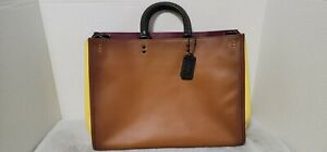 Coach 1941 Rogue 39 In Colorblock Saddle yellow black oxblood