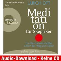 Hörbuch-Download (MP3) ★ Ulrich Ott: Meditation für Skeptiker