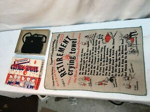 Vintage Gag Gift Crying Towel Retirement Mens Sports Old Man Gift Mid Century