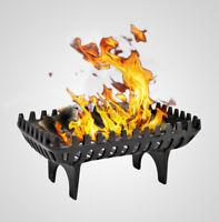 Large Cast Iron Fire Grates Log Coal Wood Holder Basket Open Fireside Fireplace