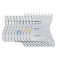 10PCS FD Strat Guitar SSS Pickguard 11 Holes 1Ply White Color Scratch Plates