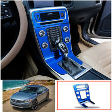 For Volvo S60 V60 2012-2020 Blue titanium central console Gear shift frame trim
