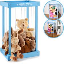 Plüschtier-Box zur Aufbewahrung von Kuscheltieren aus Holz (Blau) Spielzeugkiste