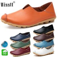 New Women's Casual Oxfords Flats Shoes Leather Ballet Loafers Boat Single Shoes