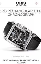 Men's Oris Rectangular Titan Chronograph Watch