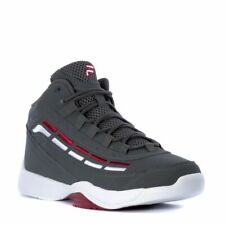 FILA SPITFIRE LOW LEATHER TRAINERS SPORTS MEN SHOES GREY/WHITE/RED SIZE 11 NEW