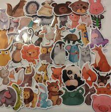 50 Zoo Animals Barnyard Decals kids room baby wildlife Vinyl waterproof glossy