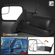 02-08 Dodge Ram 1500 2500 Manual Extend Flip Up Towing Side Mirrors Left+Right