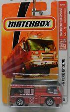 RED 2006 06 60 LADDER FIRE TRUCK ENGINE EMERGENCY 2008 2009 MB MBX MATCHBOX