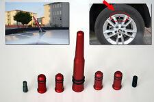 BMW SERIE rot Antenne mit 4 Reifen Ventil deckt (kompatibel für am / FM Radio)