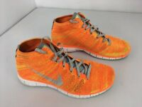 size 40 320a3 cf4e1 NIKE FREE Flyknit Chukka Orange Gray Running Shoes Men s Size 10 (639700-800