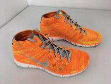 b70c5e5454cabc NIKE FREE Flyknit Chukka Orange Gray Running Shoes Men s Size 10 (639700-800