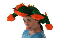 GREEN LIZZARD FUN ANIMAL FANCY DRESS HAT
