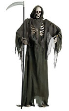 Halloween Lifesize Animated STANDING REAPER WITH MOVIE JAW Prop Haunted House
