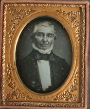 DAGUERREOTYPE MAN WITH CHIN WHISKERS, TINTED. 1/9TH PLATE FULL CASE.