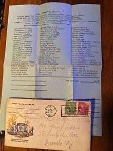 1939 Negro Leagues Baseball Letter Everett Millett Henry Lubben