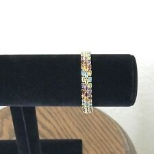 "14K Semi Precious 28.3 Carat of Gemstones, 21.29 grams 7.75"" Bracelet"